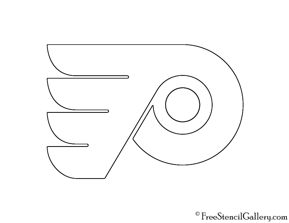 graphic about Philadelphia Flyers Printable Schedule titled NHL - Philadelphia Flyers Symbol Stencil Totally free Stencil Gallery
