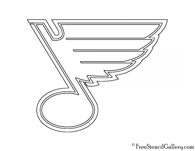 NHL - St Louis Blues Logo Stencil