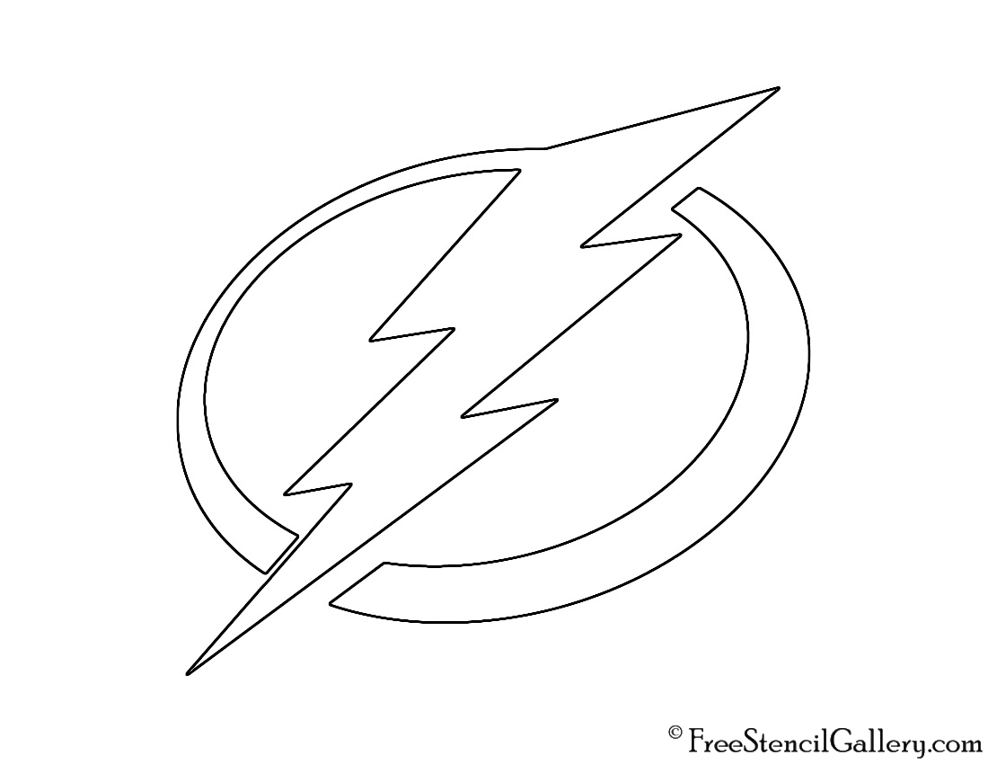 image about Tampa Bay Lightning Printable Schedule known as NHL - Tampa Bay Lightning Symbol Stencil Absolutely free Stencil Gallery