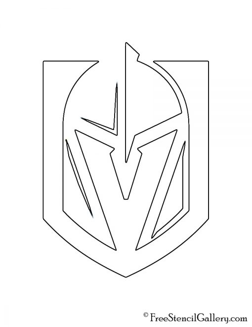 NHL - Vegas Golden Knights Logo Stencil