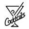 Neon Sign - Cocktails Stencil