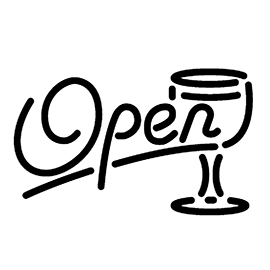 Neon Sign – Open Bar Stencil