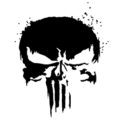 Punisher Skull Symbol 02 Stencil