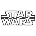 Star Wars Logo Stencil