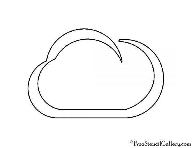 Weather Icon - Cloud Stencil
