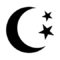 Weather Icon - Moon and Stars Stencil
