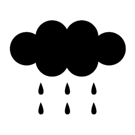 Weather Icon – Rain Stencil