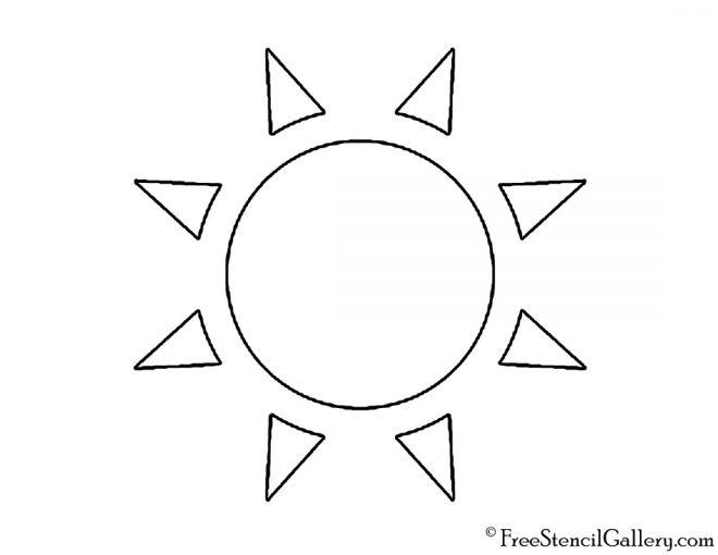 Weather Icon - Sun 02 Stencil