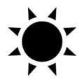 Weather Icon - Sun 02 Stencil
