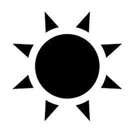 Weather Icon – Sun 02 Stencil