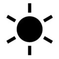 Weather Icon - Sun Stencil