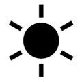 Weather Icon - Sun Stencil