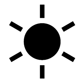 Weather Icon – Sun Stencil