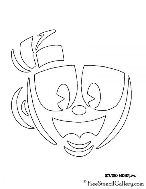 Cuphead Stencil 02
