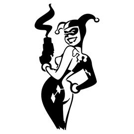 Harley Quinn 01 Stencil