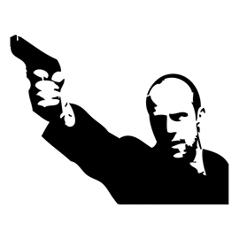 Jason Statham 02 Stencil