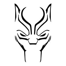 Black Panther 01 Stencil