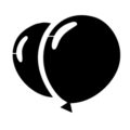 Balloon Fight Symbol Stencil