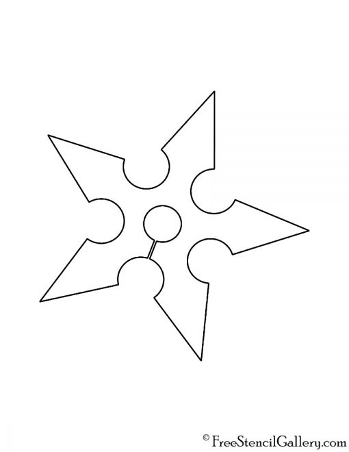 Fornite Ninja Symbol Stencil