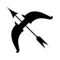Kid Icarus Bow Symbol Stencil