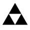Legend of Zelda Triforce Symbol Stencil