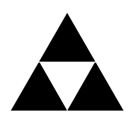 Legend of Zelda Triforce Symbol Stencil