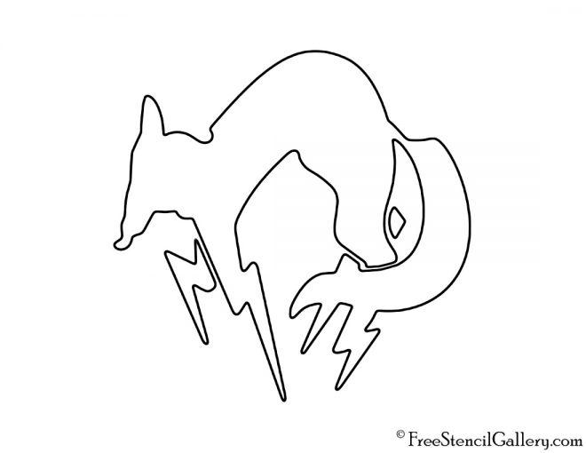Metal Gear FOX Unit Symbol Stencil
