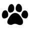 Nintendogs Paw Print Symbol Stencil