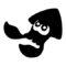 Splatoon Inkling Squid Stencil
