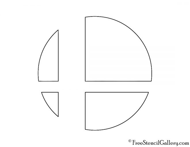Super Smash Bros Logo Stencil