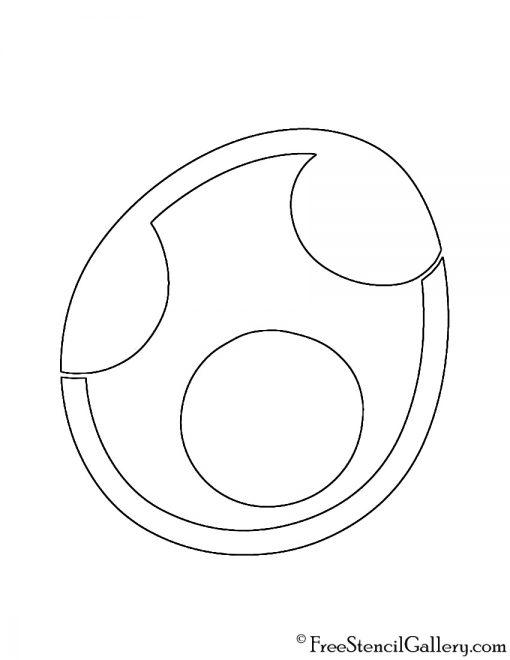Yoshi Egg Symbol Stencil