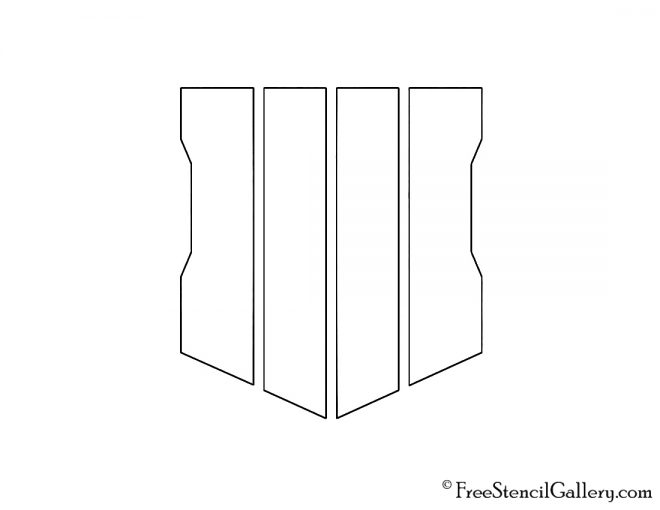 Call of Duty - Black Ops 4 Logo Stencil