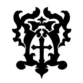 Belmont Crest Stencil