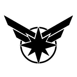 Captain Marvel Symbol Stencil