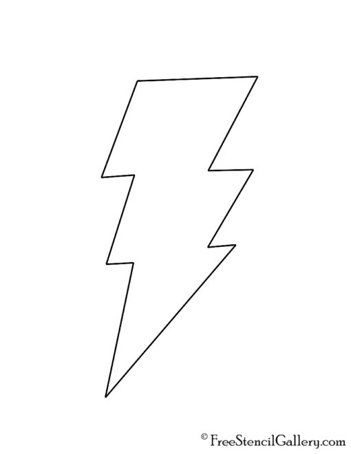 Shazam Symbol Stencil