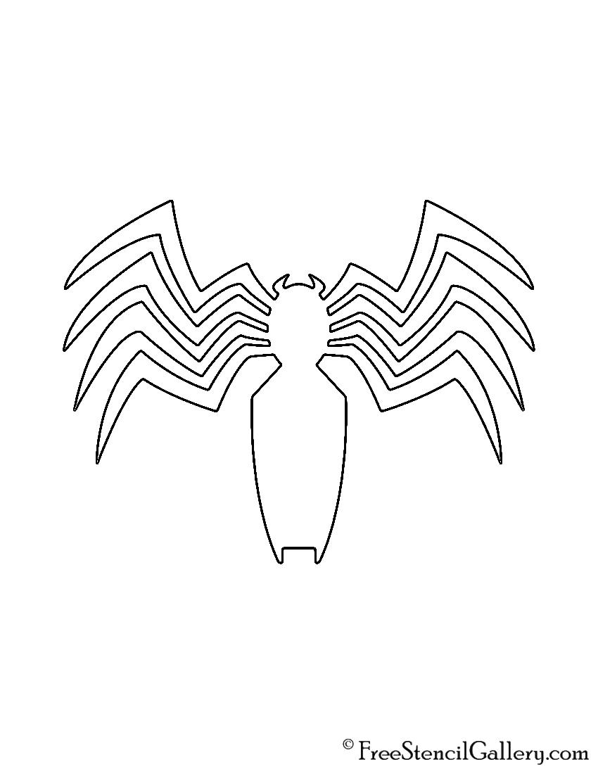 Venom Symbol Stencil