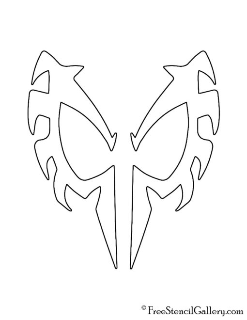 Spiderman 2099 Mask Stencil