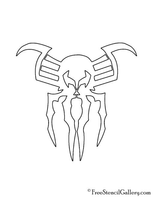 Spiderman 2099 Symbol Stencil
